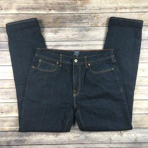 "J. Crew ""The Sutton"" Flannel-Lined Denim Jeans."